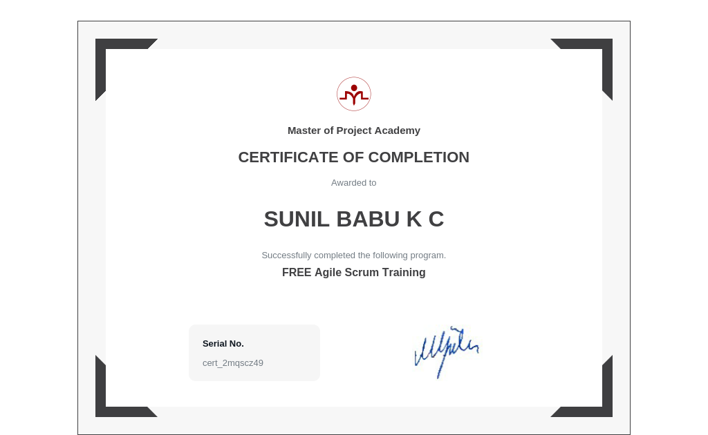 My Technology Certificates | The Evolution