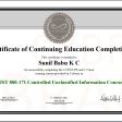 NIST Certificate
