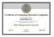 RMF Certificate